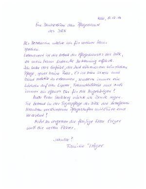 Sagen schwiegermutter danke Brief einer